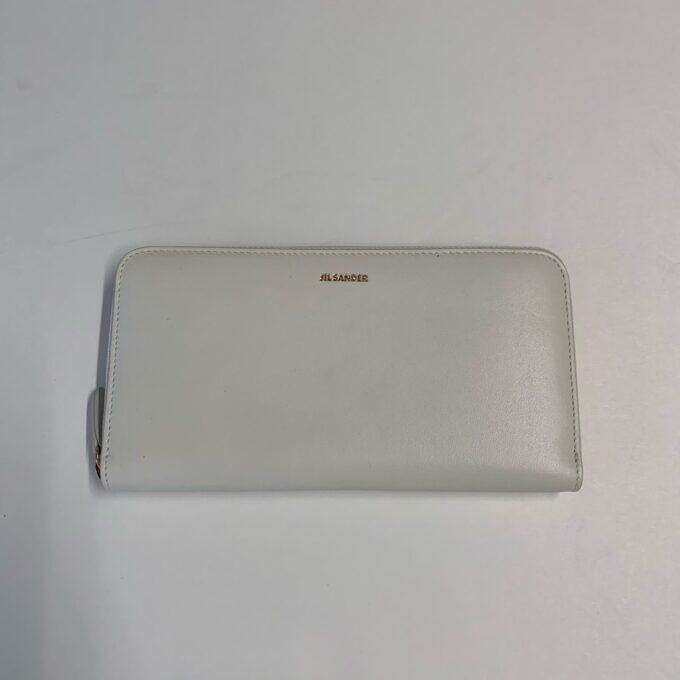 【JIL SANDER】ファスナー財布 ホワイト