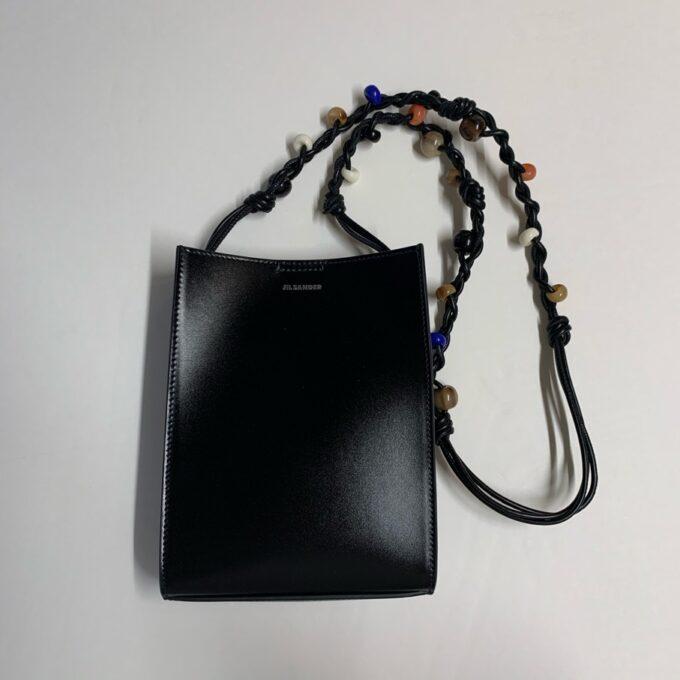 【JIL SANDER】 Tangle ショルダーバッグ S ビーズ装飾  ブラック