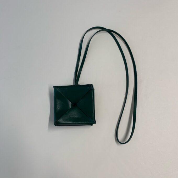 【JIL SANDER】折り紙型コインケース グリーン