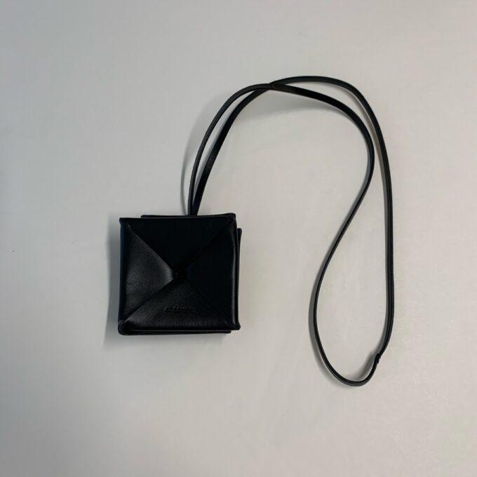 【JIL SANDER】折り紙型コインケース ブラック