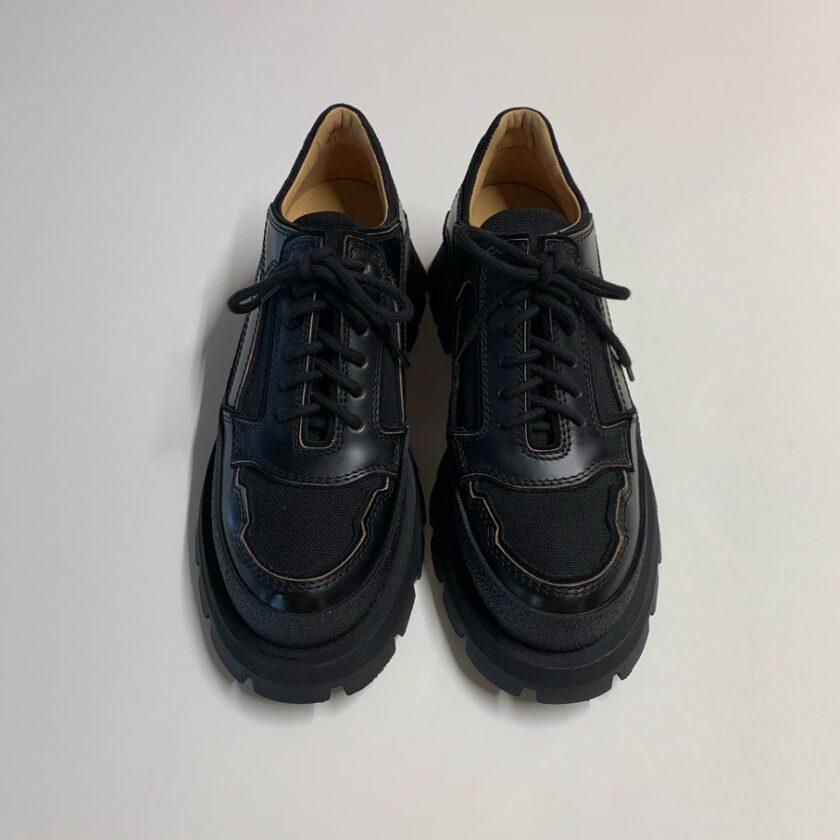【JIL SANDER】メッシュパネル ブローグシューズ ブラック