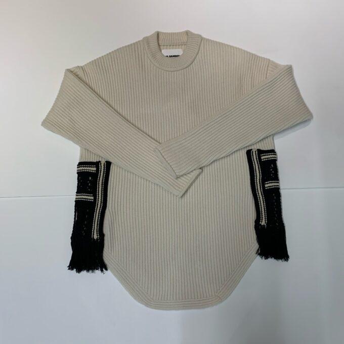 【JIL SANDER】*お問い合わせ商品 サイドパネルセーター ホワイト