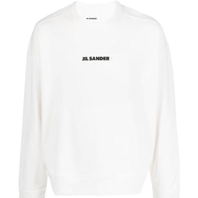 【JIL SANDER+】*お問い合わせ商品 リラックスフィット スウェットシャツ ホワイト
