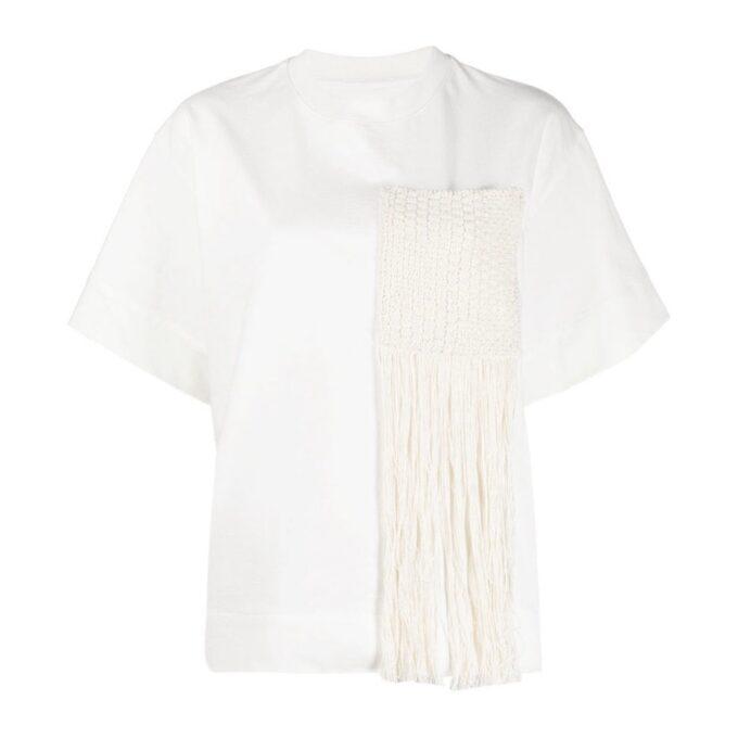 【JIL SANDER】*お問い合わせ商品 フリンジ Tシャツ ホワイト