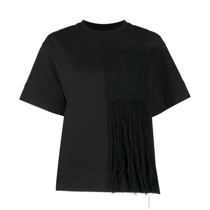 【JIL SANDER】*お問い合わせ商品 フリンジ Tシャツ ブラック