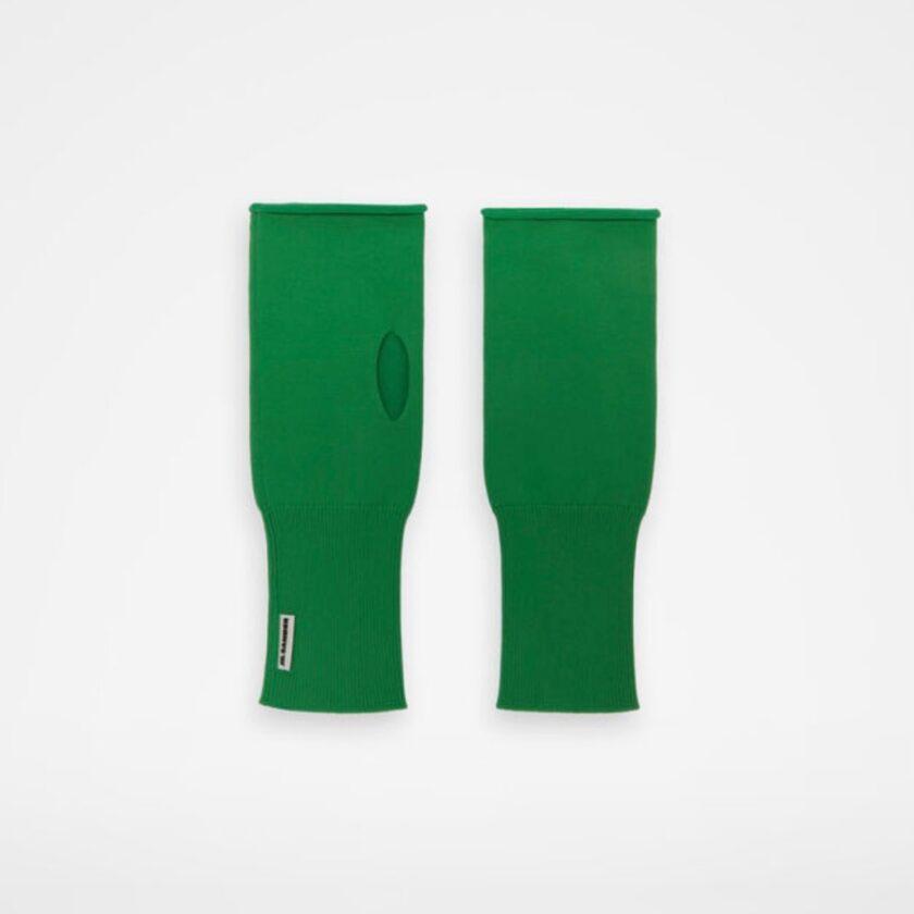 【JIL SANDER】*お問い合わせ商品 指なし手袋 グリーン
