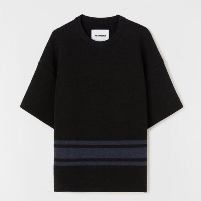【JIL SANDER】*お問い合わせ商品 半袖セーター ブラック