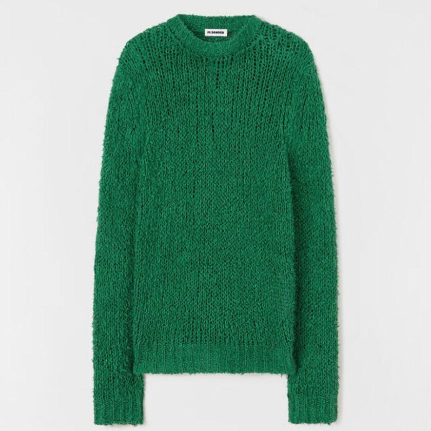 【JIL SANDER+】*お問い合わせ商品 リラックスフィット セーター グリーン