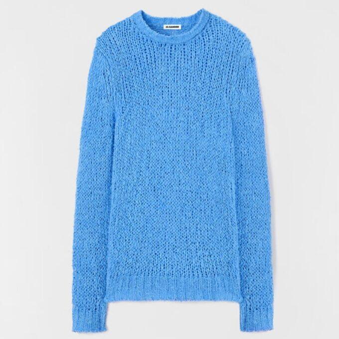 【JIL SANDER】*お問い合わせ商品 リラックスフィット セーター ブルー
