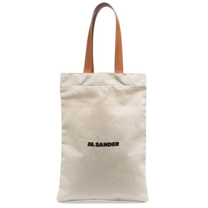 【JIL SANDER】*お問い合わせ商品 フラットショッパー ロゴ トートバッグ
