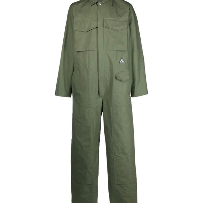 【JIL SANDER+】*お問い合わせ商品 ロゴ ジャンプスーツ カーキ