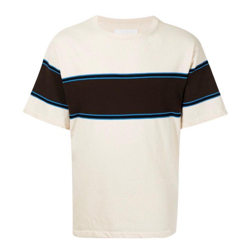 【JIL SANDER+】*お問い合わせ商品 ツートーンストライプ ニットTシャツ