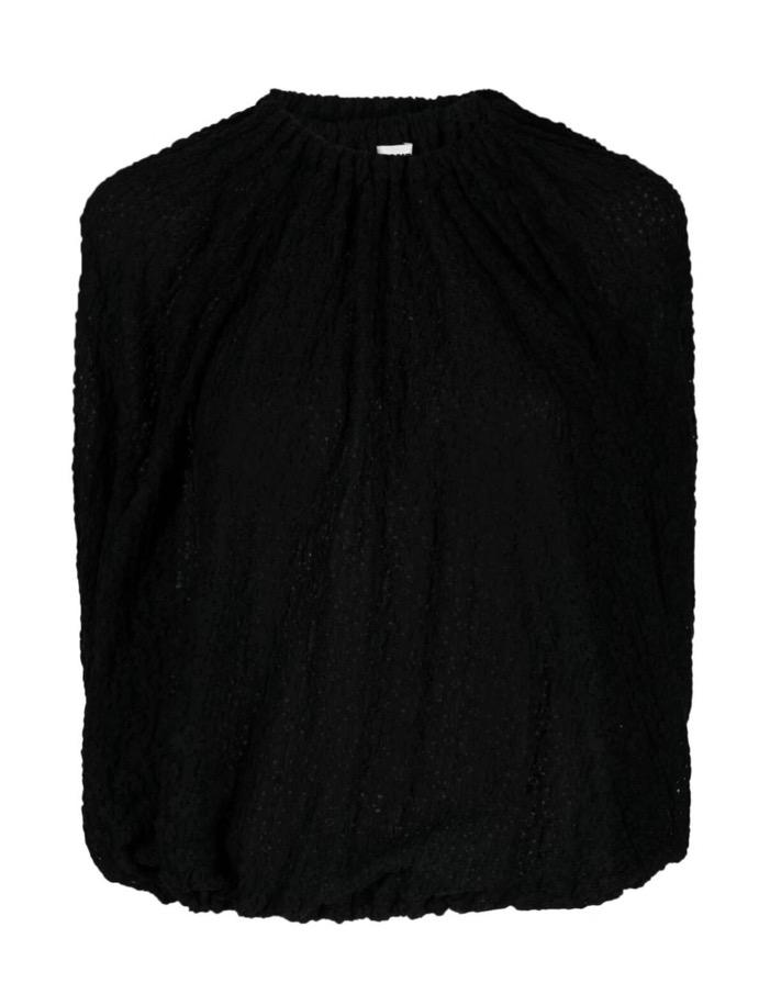 【JIL SANDER】*お問い合わせ商品 フローラル アイレットレース ブラウス ブラック