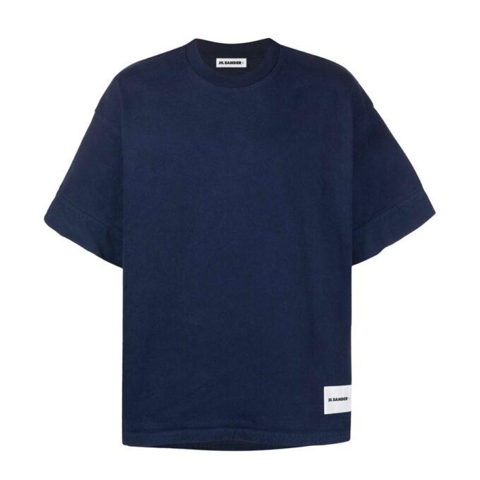 【JIL SANDER+】*お問い合わせ商品 ロゴパッチ Tシャツ ネイビー