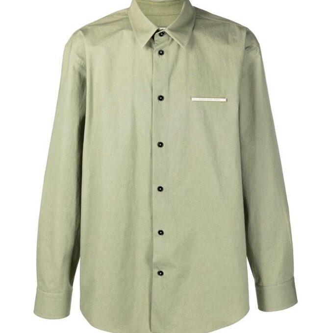 【JIL SANDER】*お問い合わせ商品 NEVER FADE AWAY プレート シャツ グリーン