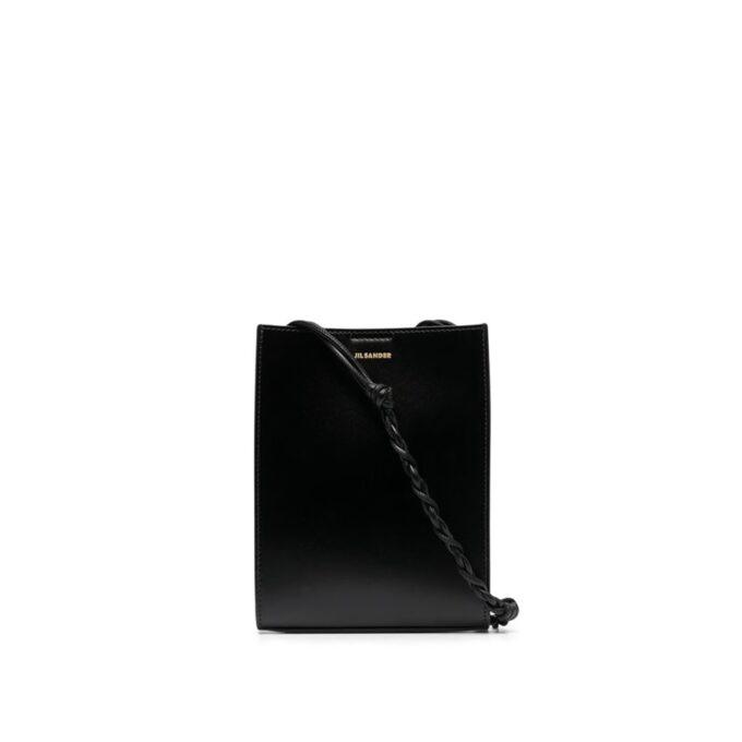 【JIL SANDER】*お問い合わせ商品 TNGLE ツイストストラップショルダーバッグ S  ブラック