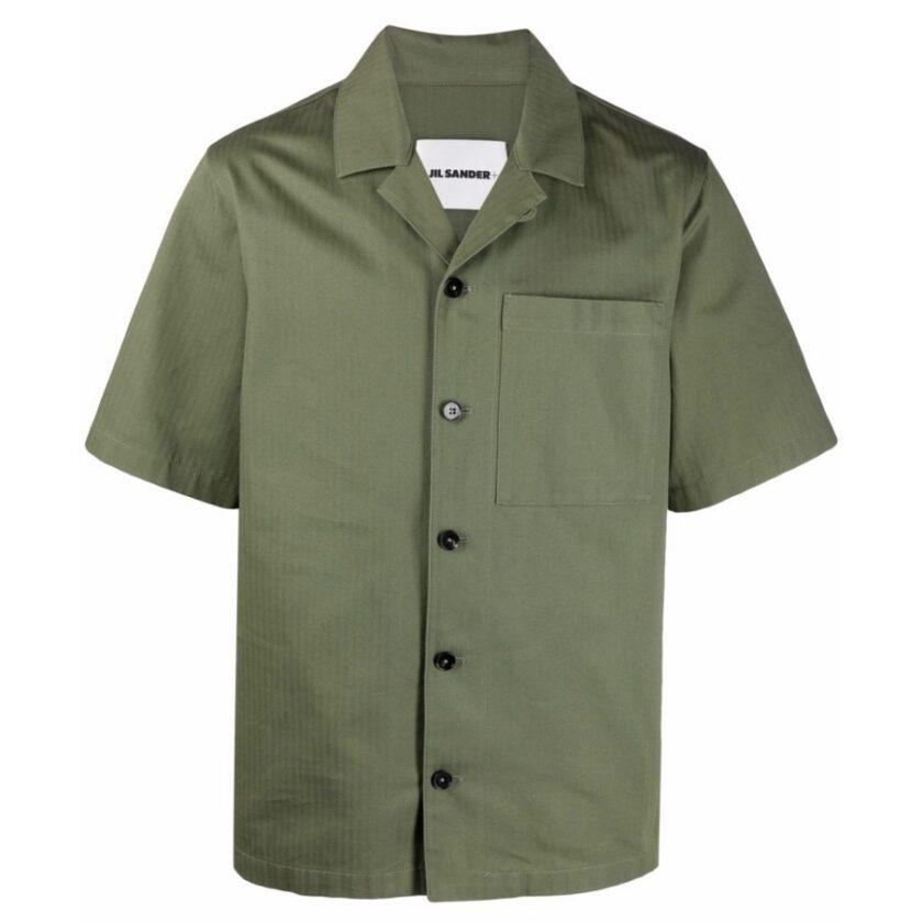 【JIL SANDER】*お問い合わせ商品 半袖ワークシャツ グリーン