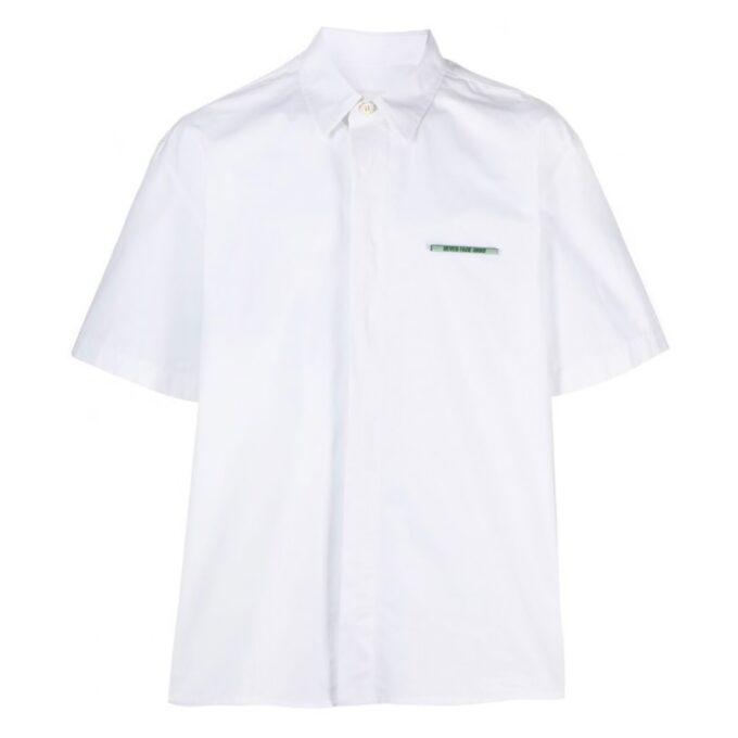 【JIL SANDER】*お問い合わせ商品 スローガン 半袖シャツ ホワイト