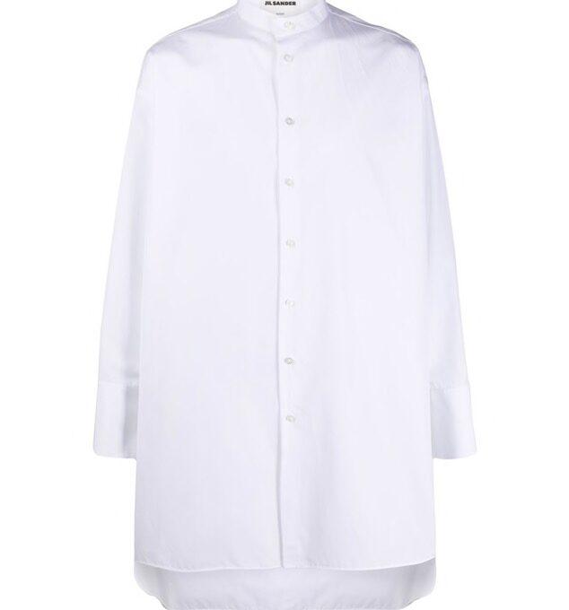 【JIL SANDER】*お問い合わせ商品 ノーカラー シャツ ブラック