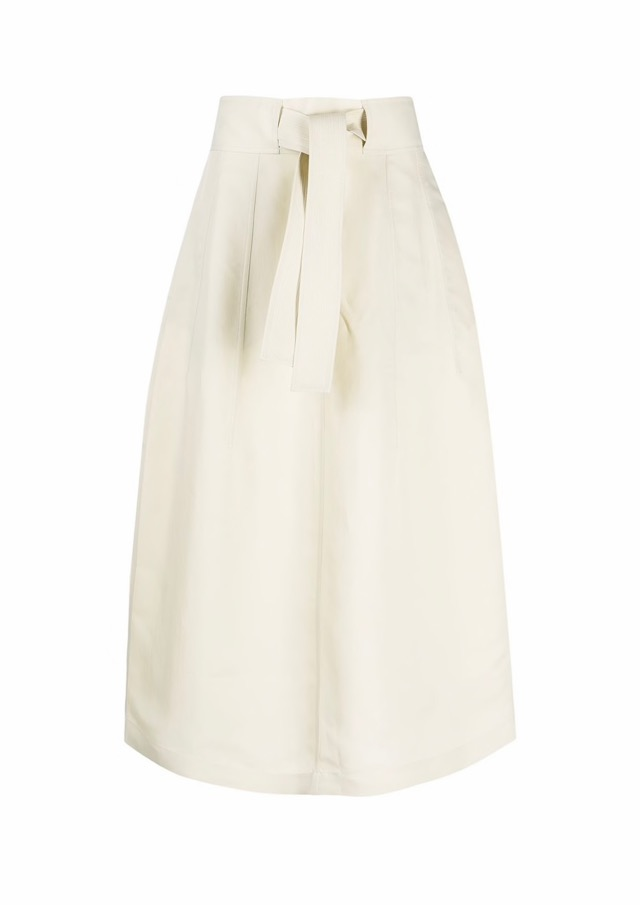 【JIL SANDER】*お問い合わせ商品 ベルテッド Aラインスカート ホワイト
