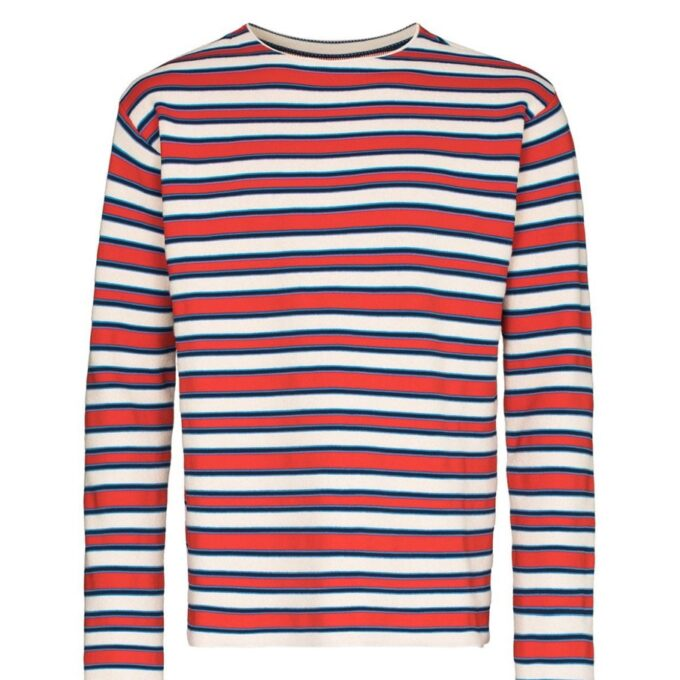 【JIL SANDER+】*お問い合わせ商品 ストライプ スウェットシャツ レッド