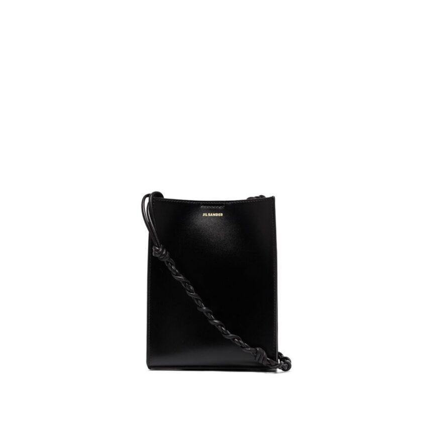 【JIL SANDER】*お問い合わせ商品 TANGLE ツイストストラップショルダーバッグ S   ブラック