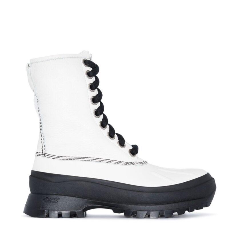 【JIL SANDER】*お問い合わせ商品 レースアップ ハイキングブーツ ホワイト