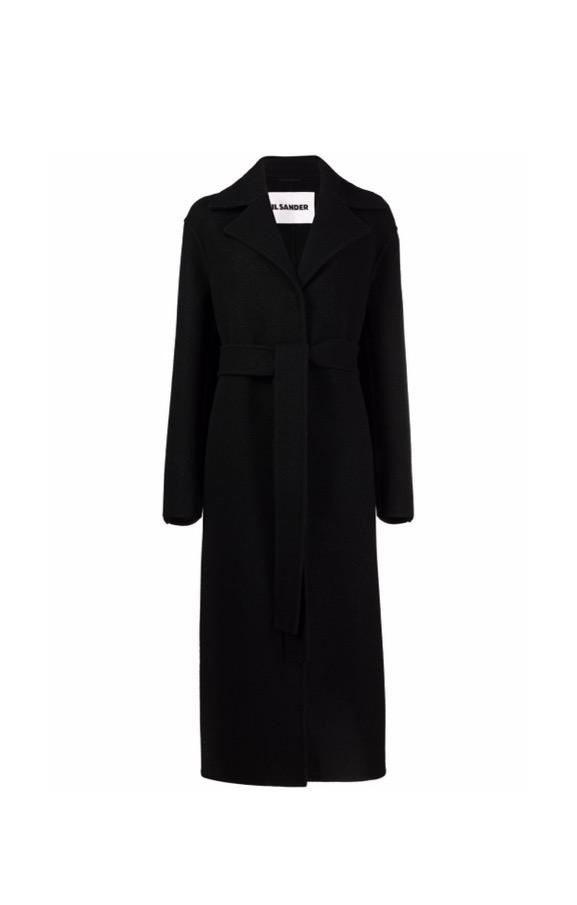 【JIL SANDER】*お問い合わせ商品 ベルテッド シングルコート ブラック