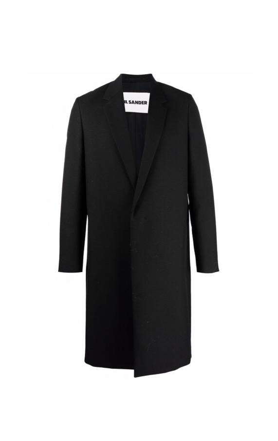 【JIL SANDER】*お問い合わせ商品 ノッチドラペル シングルコート ブラック