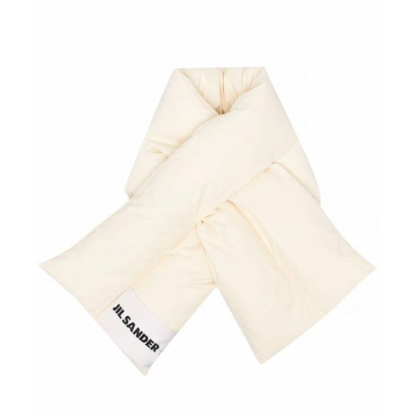 【JIL SANDER】*お問い合わせ商品 ロゴパッチ スカーフ ホワイト