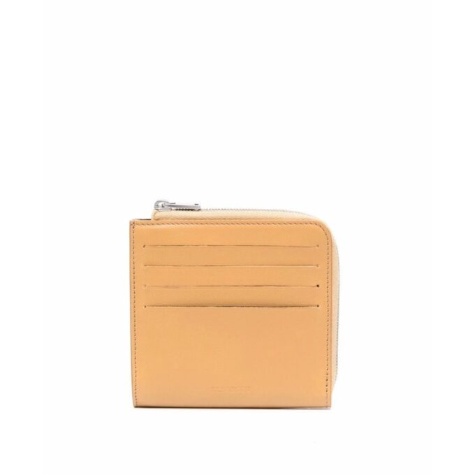 【JIL SANDER】*お問い合わせ商品 L字ジップカードスロット付き ミニ財布  ベージュ