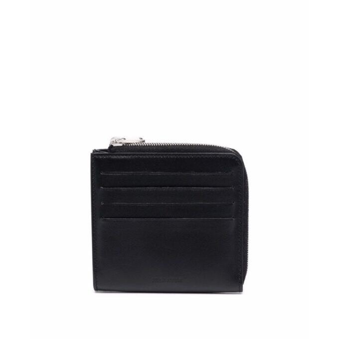 【JIL SANDER】*お問い合わせ商品 L字ジップカードスロット付き ミニ財布 ブラック