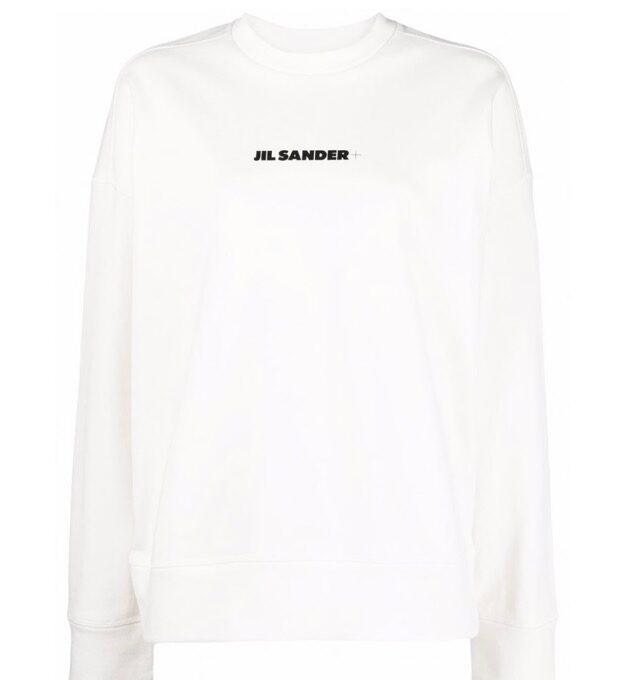 【JIL SANDER】*お問い合わせ商品 ロゴスウェットシャツ ホワイト