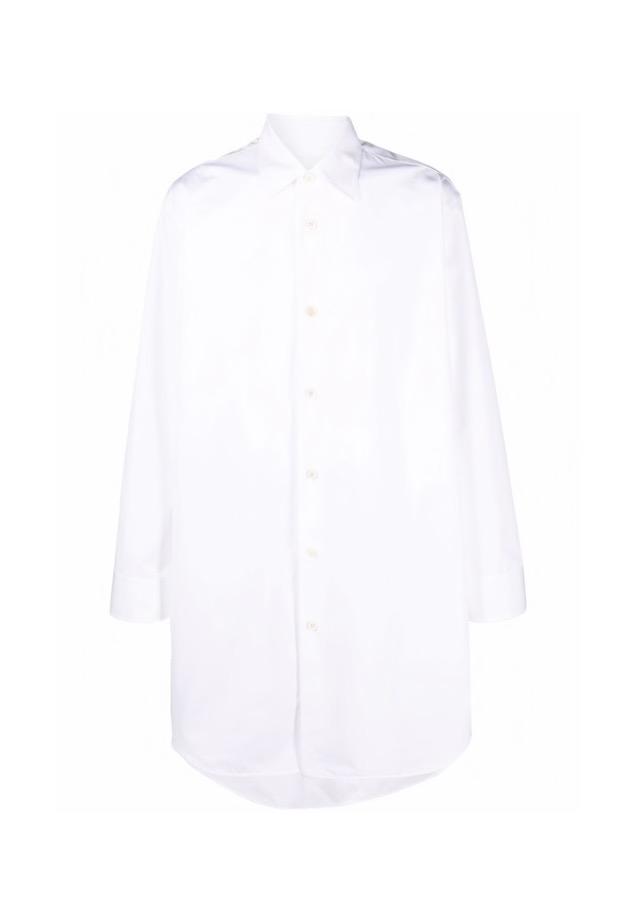 【JIL SANDER】*お問い合わせ商品 ロングラインスタイル シャツ ホワイト