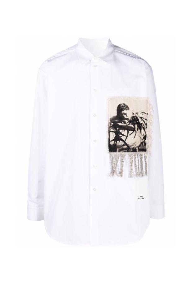 【JIL SANDER】*お問い合わせ商品 パッチディテール シャツ ホワイト