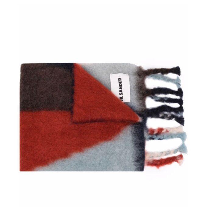 【JIL SANDER】*お問い合わせ商品 カラーブロック ニットスカーフ
