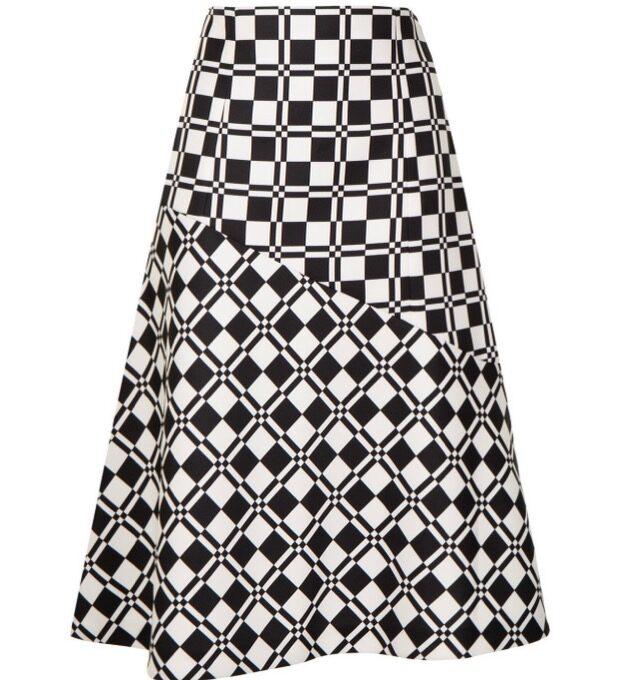 【JIL SANDER】*お問い合わせ商品 ジオメトリックパターン Aライン スカート