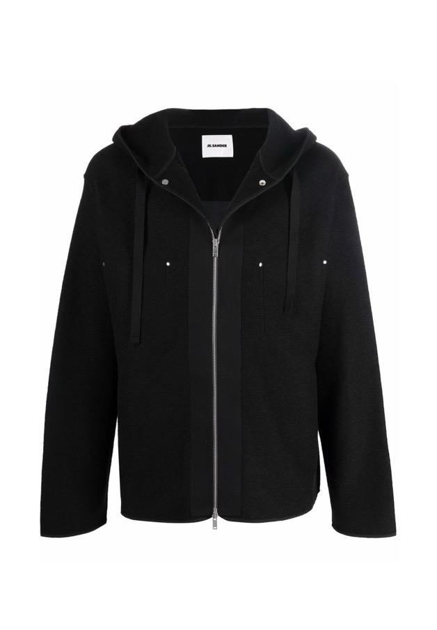 【JIL SANDER】*お問い合わせ商品 フーデッド ジャケット ブラック