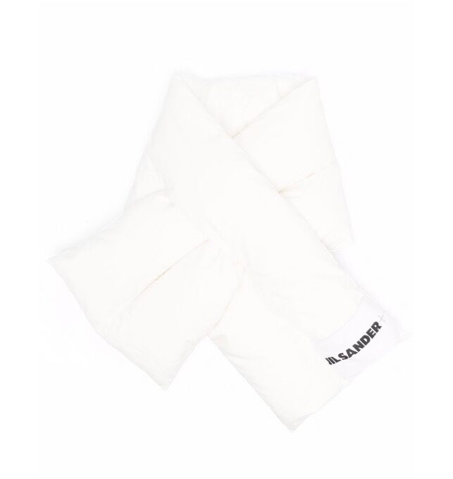 【JIL SANDER】*お問い合わせ商品 パデッド スカーフ ホワイト
