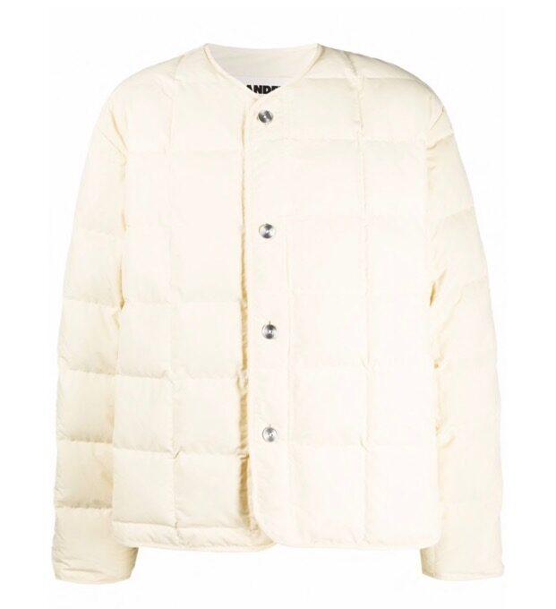 【JIL SANDER】*お問い合わせ商品 パデッド ジャケット オフホワイト